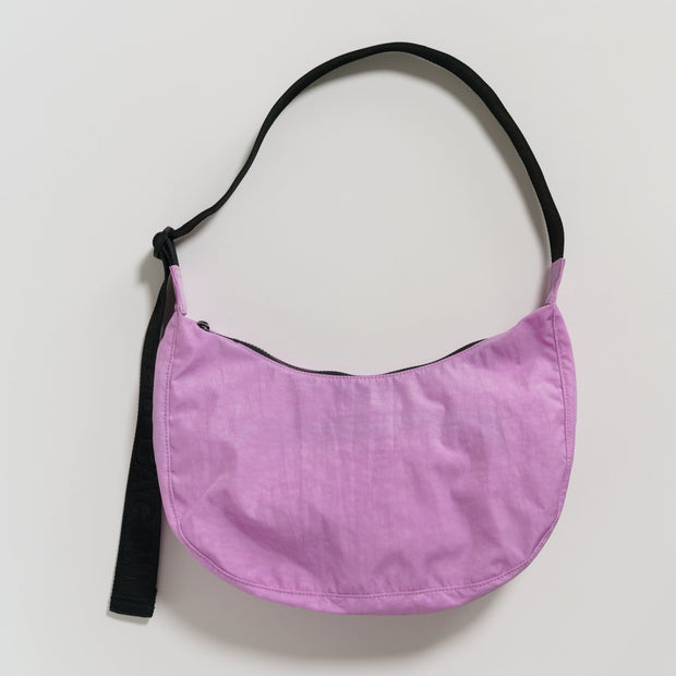 Recycled Nylon Crescent Bag - Peony