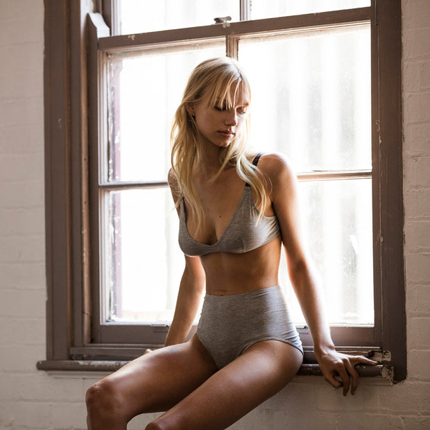 Triangle Bra Grey Marle