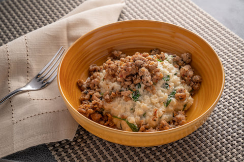 KETO Italian Sausage Risotto - Scratch Food