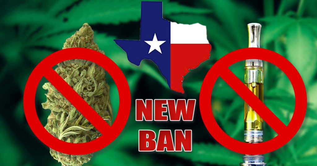 Texas Pushes to Ban Retail Sale of CBD Vape Products & Smokeable Hemp Flower
