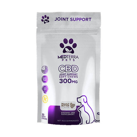 Medterra Pet Joint Health Peanut Butter 200mg CBD 30ct