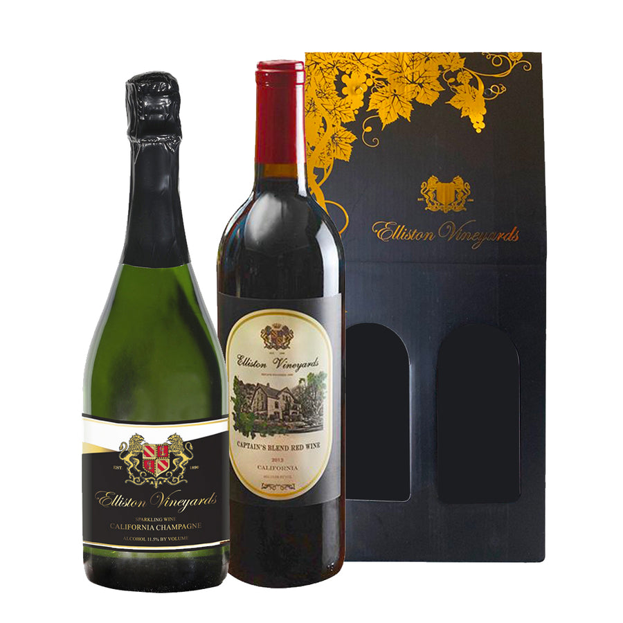 California Champagne and 2013 Captain's Blend Gift Bundle