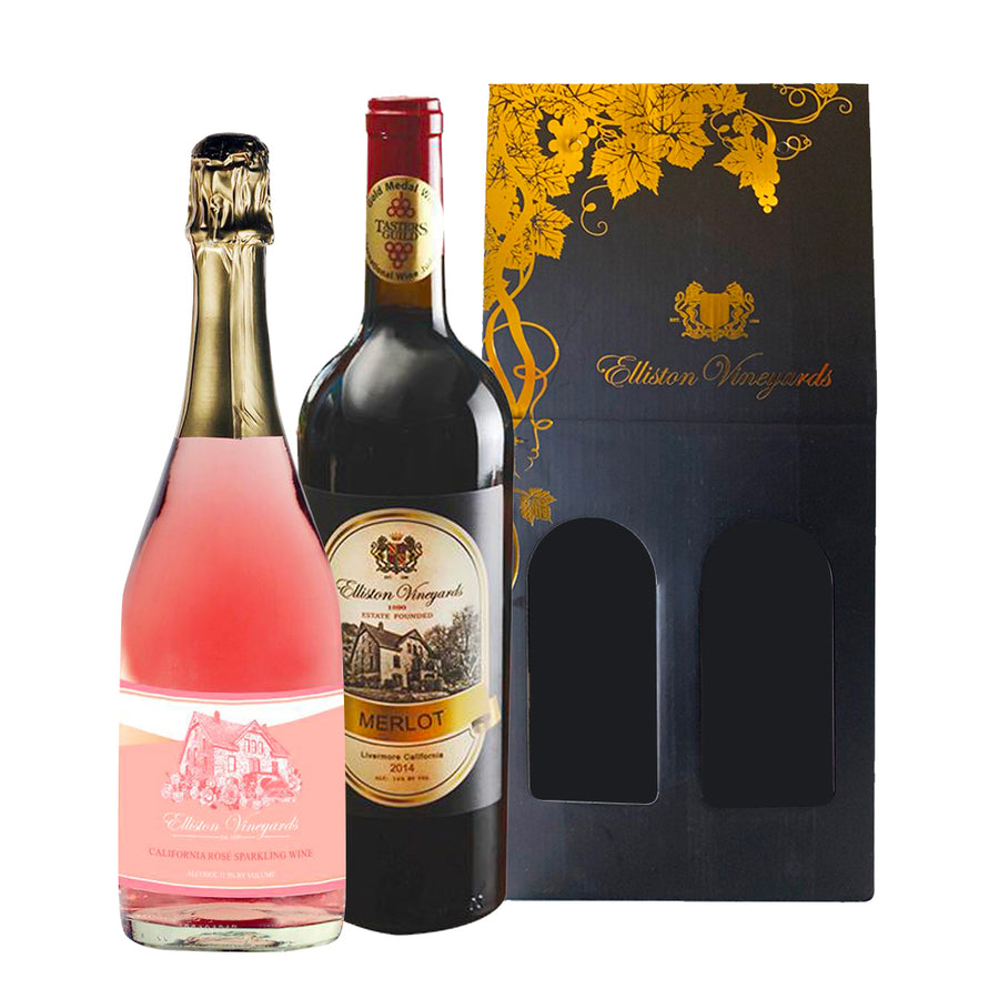 Rosé Sparkling and 2014 Merlot Gift Bundle