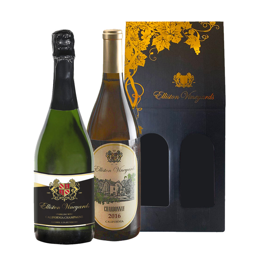 California Champagne and 2016 Chardonnay Gift Bundle