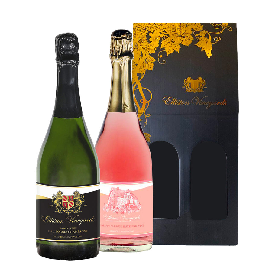 Champagne and Rosé Sparkling Wine Gift Bundle