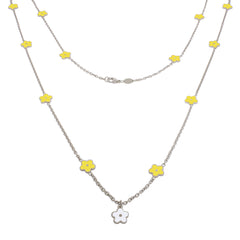 36-inch Smell the Flowers Sterling Silver Necklace - Yellow