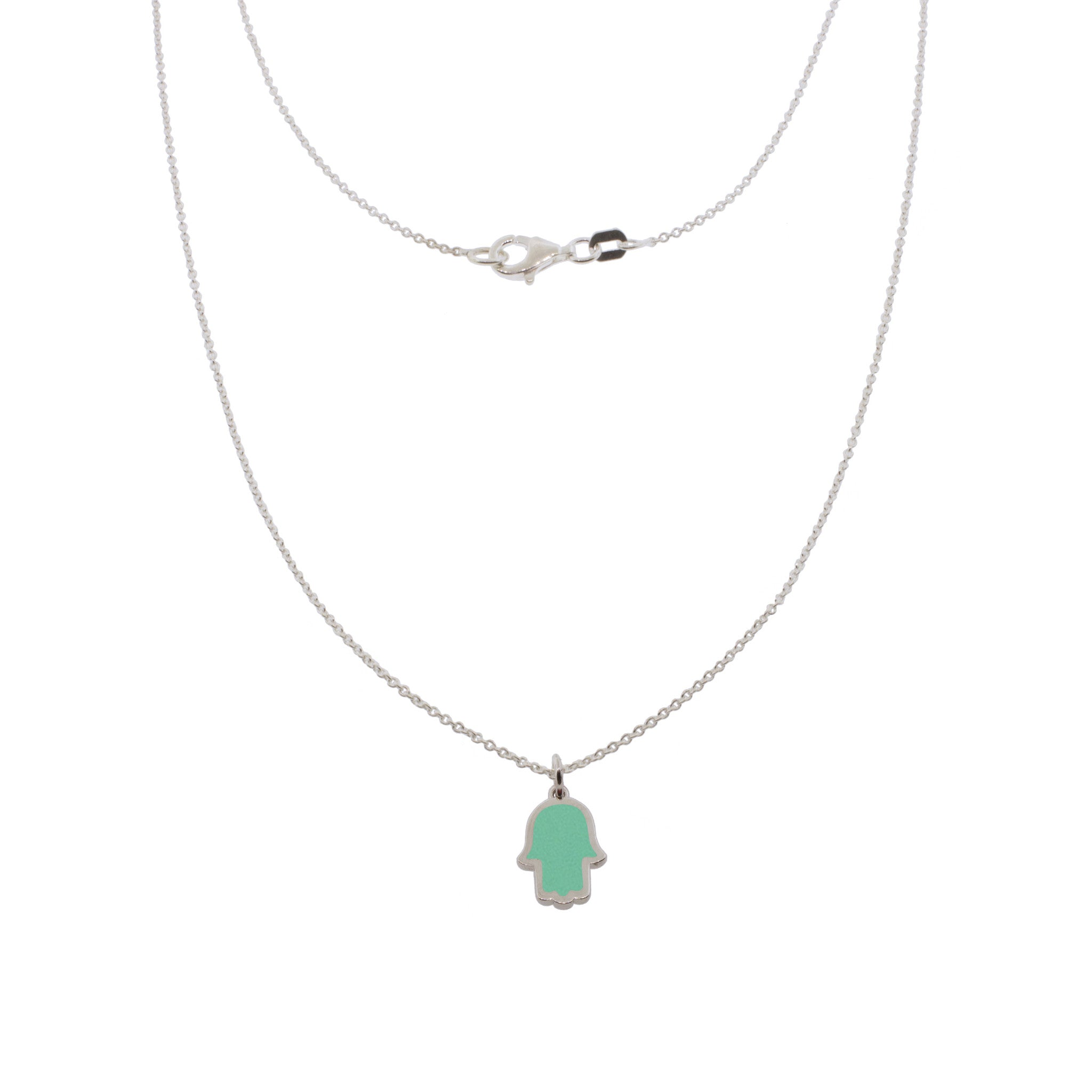 17-inch Touch of Luck Sterling Silver Necklace - Turquoise