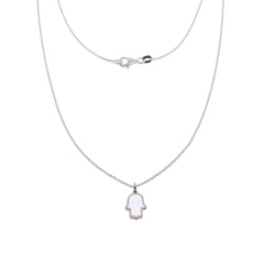 17-inch Touch of Luck Sterling Silver Necklace - White