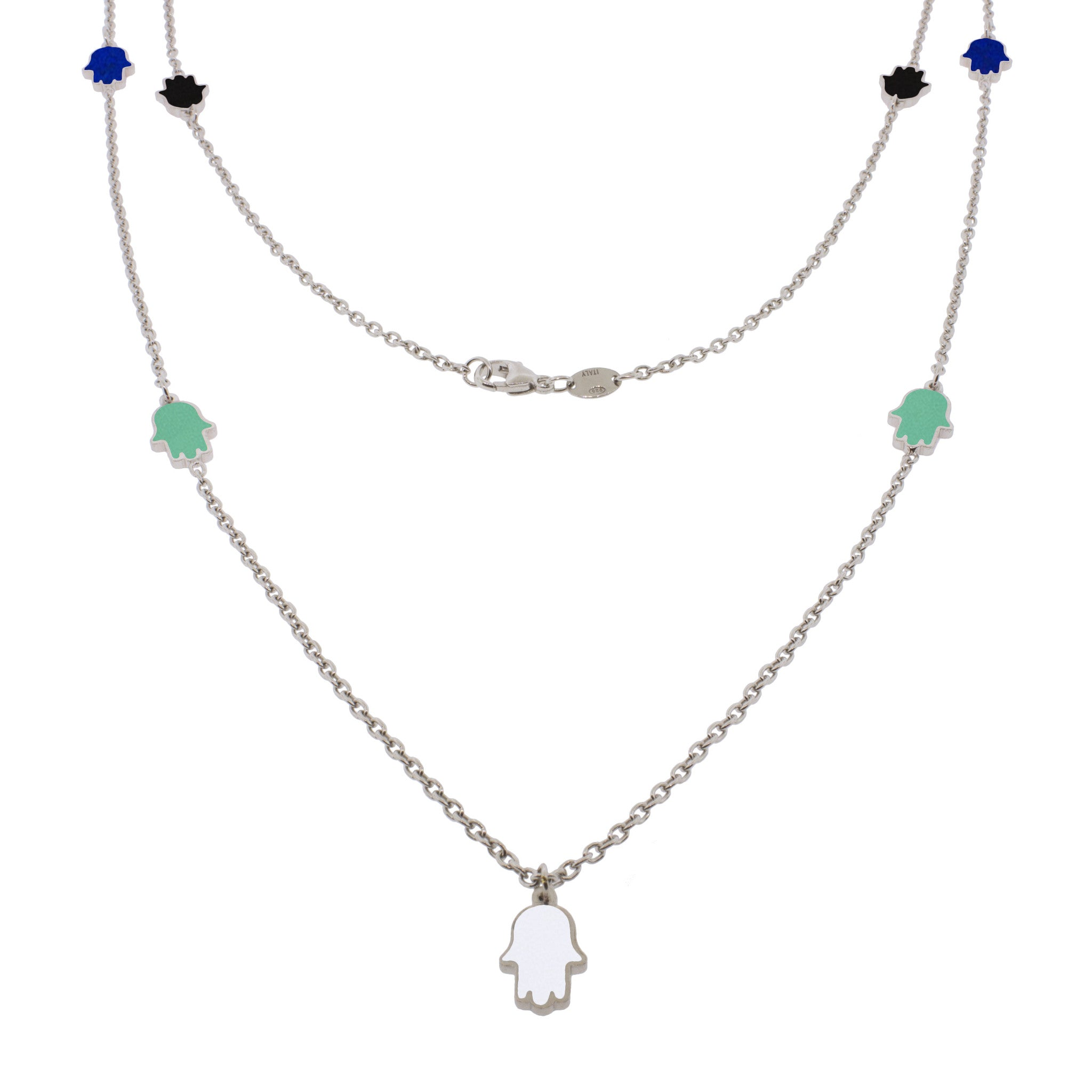 32-inch Touch of Luck Sterling Silver Necklace - Color Splash