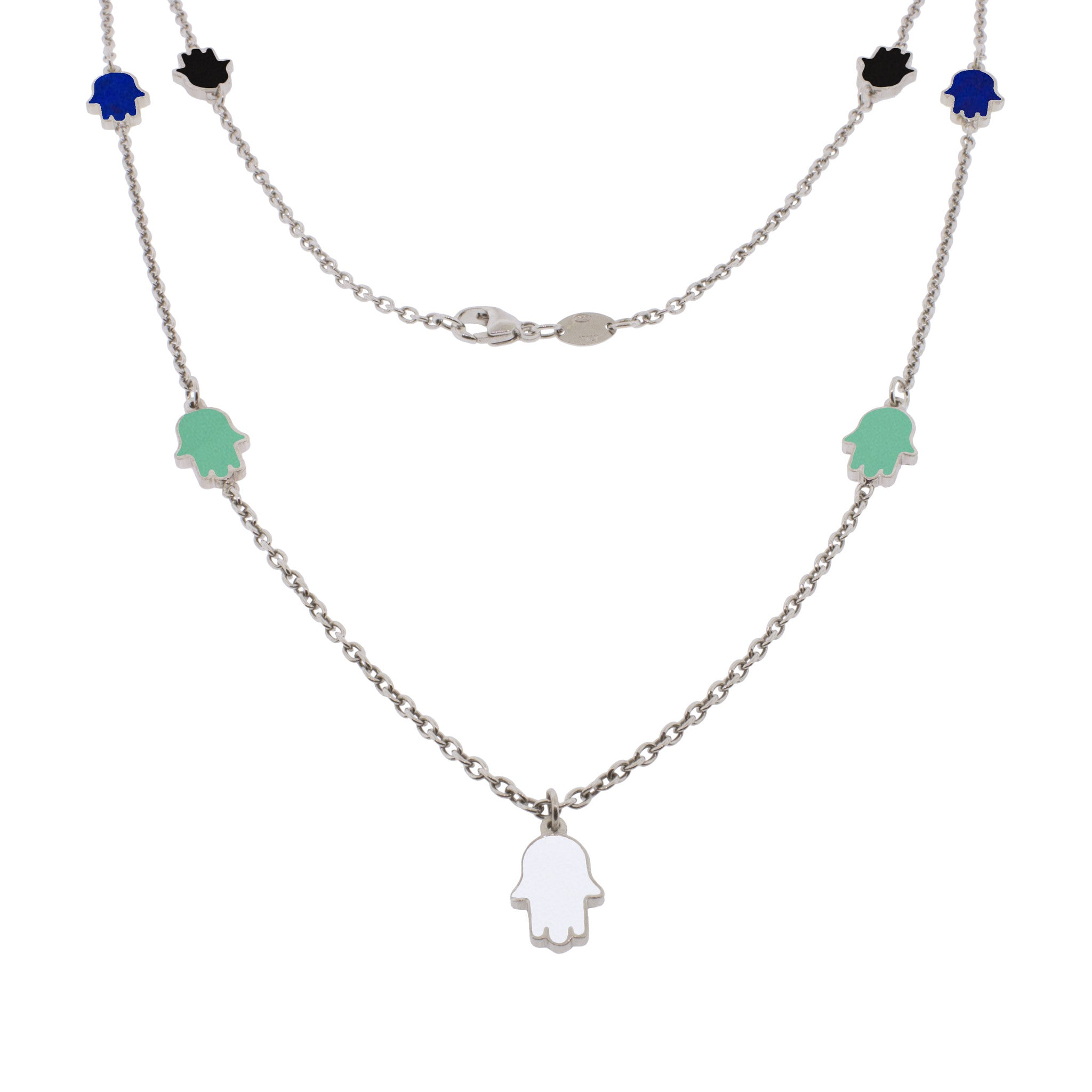 24-inch Touch of Luck Sterling Silver Necklace - Color Splash