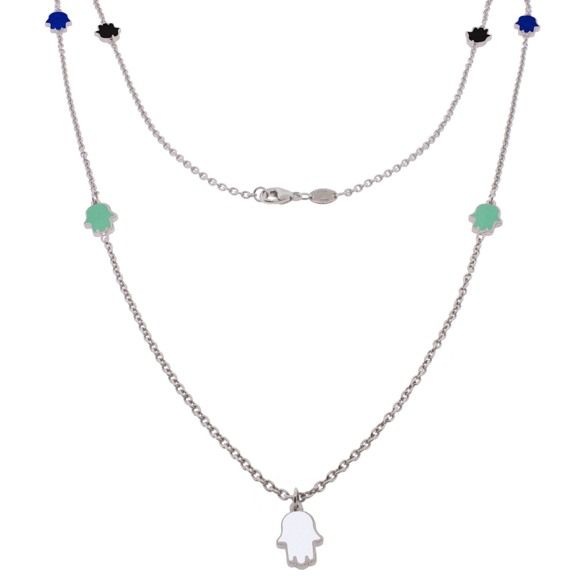 36-inch Touch of Luck Sterling Silver Necklace - Color Splash