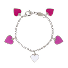 Hearts of Hearts Sterling Silver Charm Bracelet
