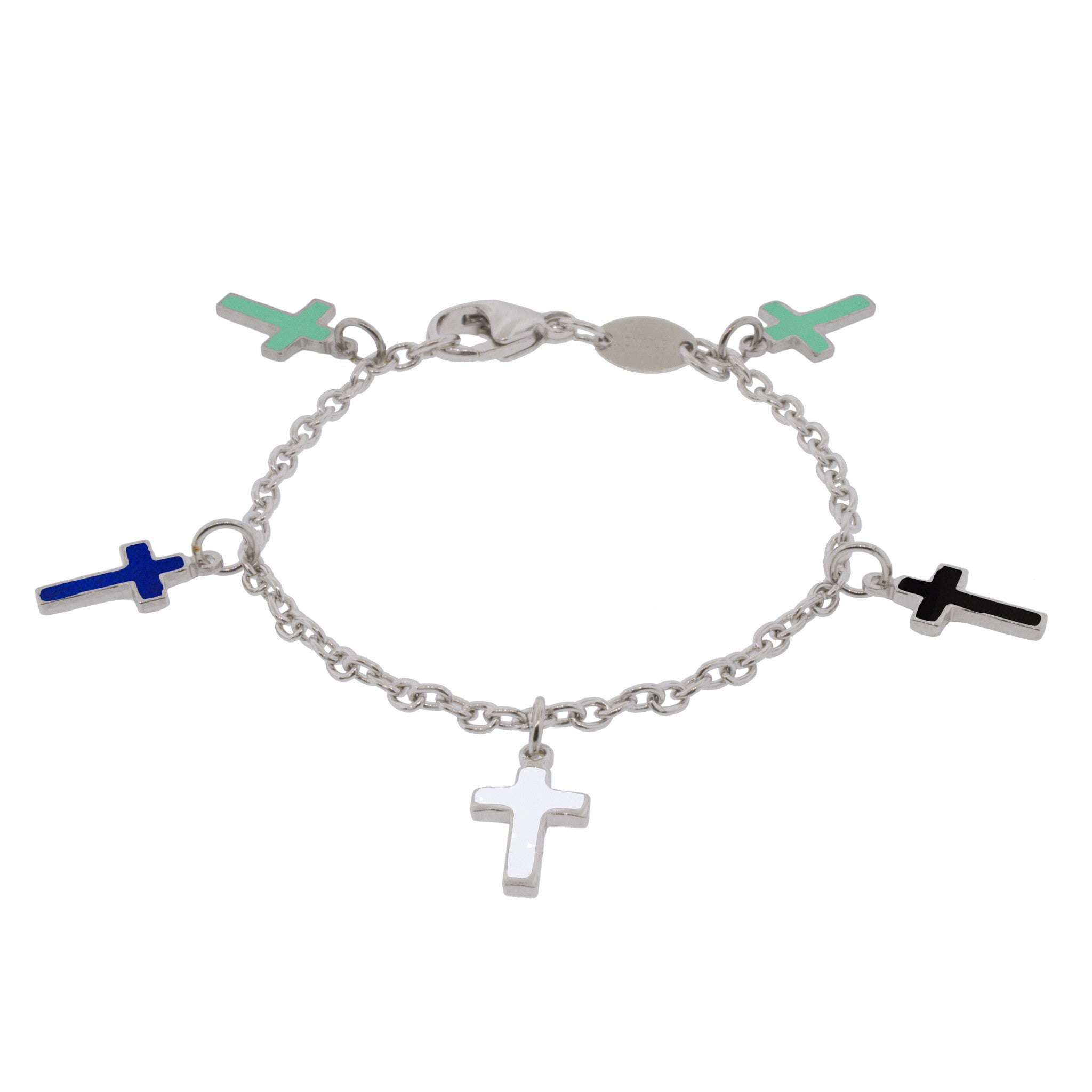 Faith Sterling Silver Charm Bracelet