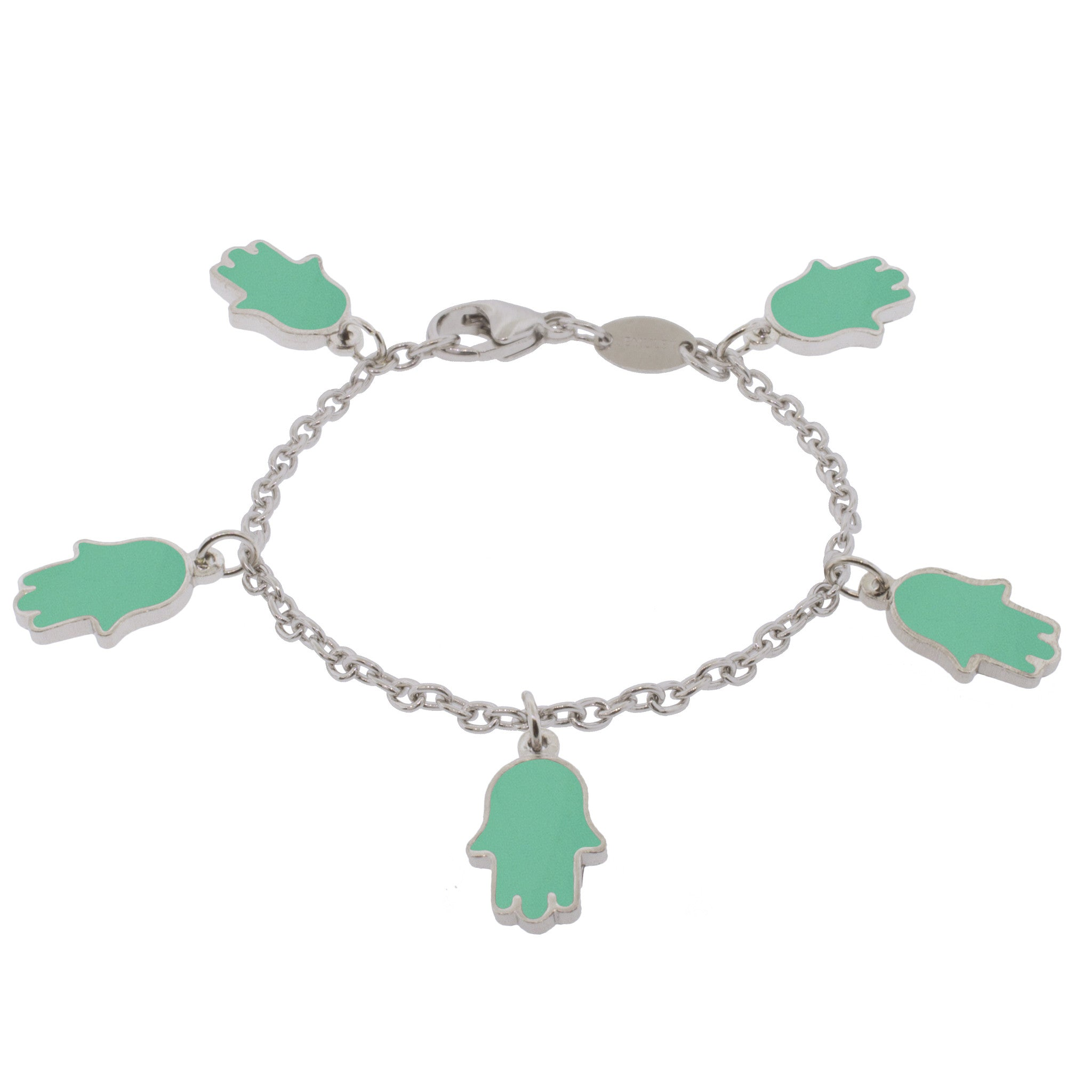 Lucky Hands Sterling Silver Bracelet - Turquoise