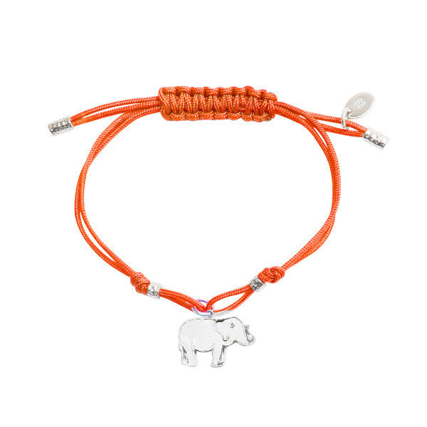 Elephant Pendant Bracelet - Orange