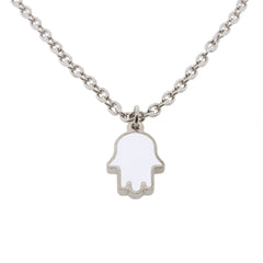 24-inch Touch of Luck Sterling Silver Necklace - White