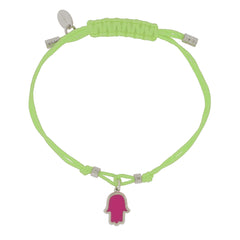 Touch of Luck Pendant Bracelet - Lime Green