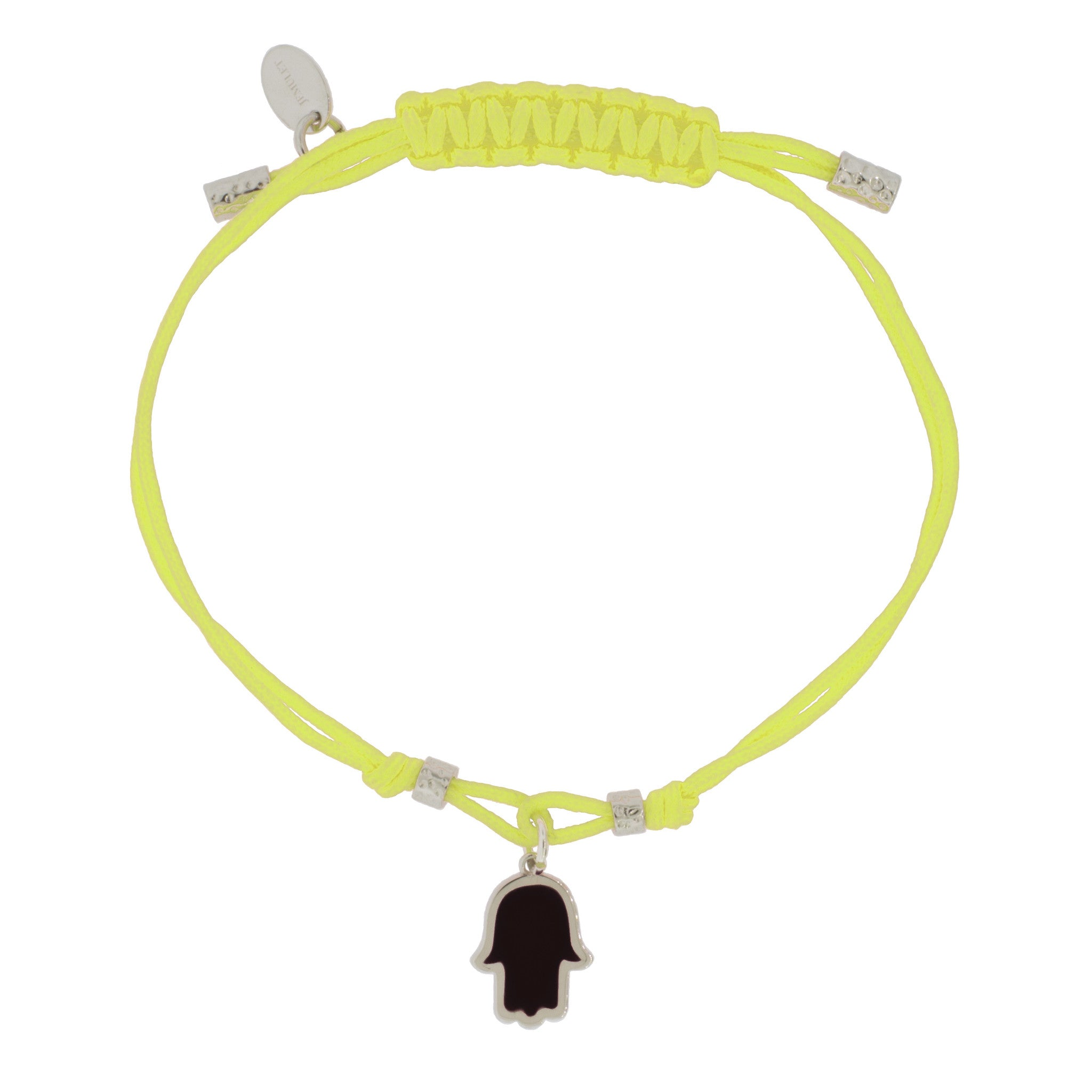 Touch of Luck Pendant Bracelet - Neon Yellow