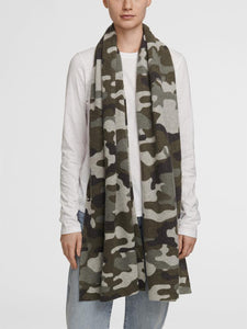 White + Warren - Camo Thermal Scarf - Khaki Green