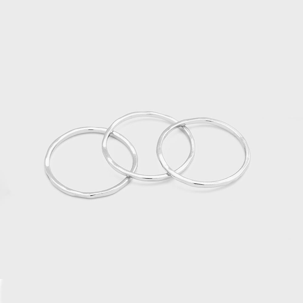 Gorjana - G Ring Set (set of 3) Silver 5