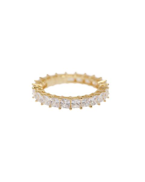 Luv AJ - Princess Ballier Ring in Gold size 6