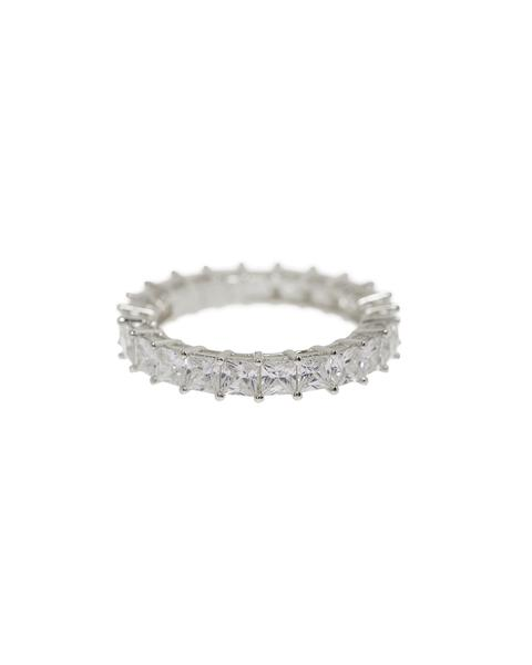 Luv AJ - Princess Ballier Ring in Silver size 6
