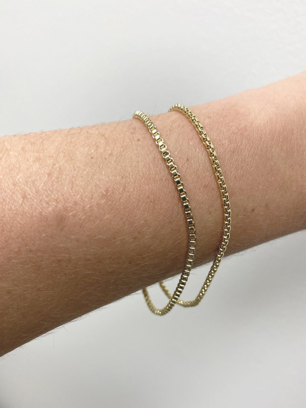 Machete - Box Chain Bracelet Round in 14K Gold