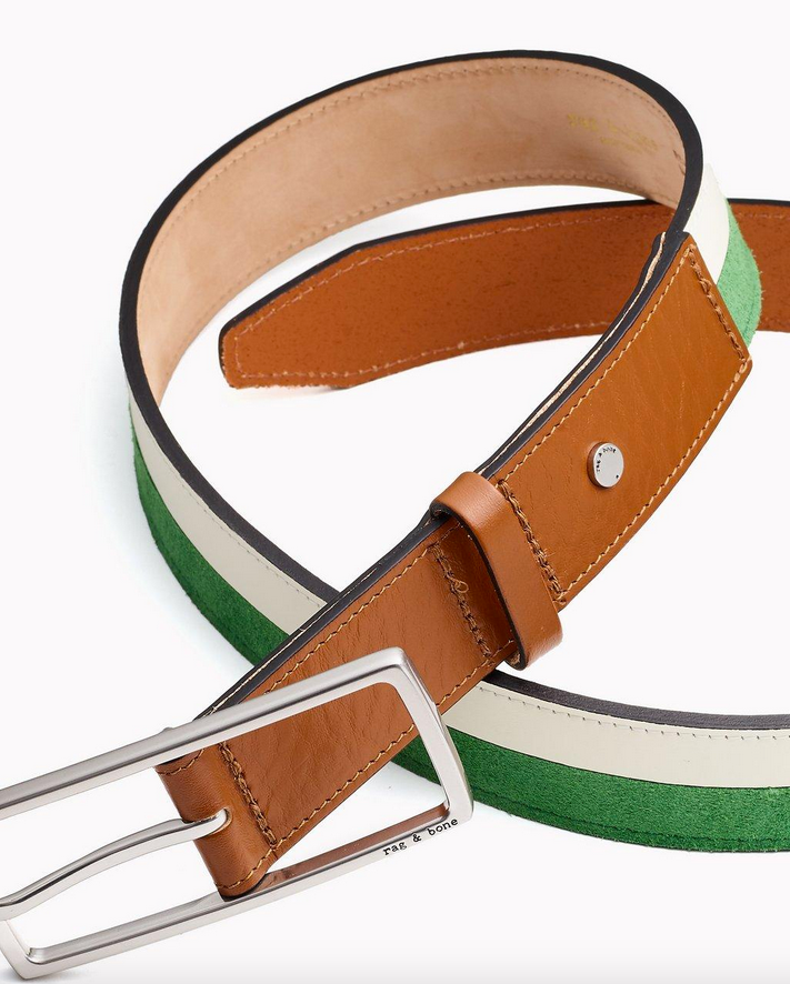 Rag & Bone - Rebound Belt in Antique White/Lime