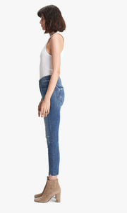 Mother - High Waisted Looker Ankle Fray Denim - Get Your Groove Back