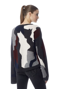 360 Cashmere - Serrano Sweater - Graphite/Multi