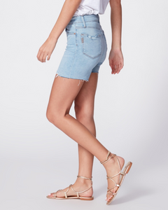 Paige - Sarah Longline Short w/ Raw Hem - Coltraine Distressed