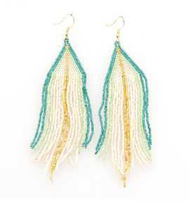 INK + ALLOY - Teal Ombre Fringe Earrings