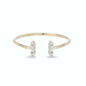 Adina Reyter - Open Stack Baguette Ring - Yellow Gold