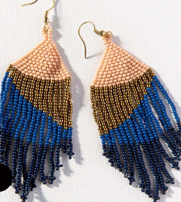 INK + ALLOY - Navy Ombre Seed Bead Earring