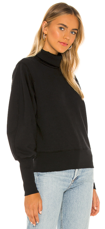 AGOLDE - Extended Rib Turtleneck Sweatshirt - Black