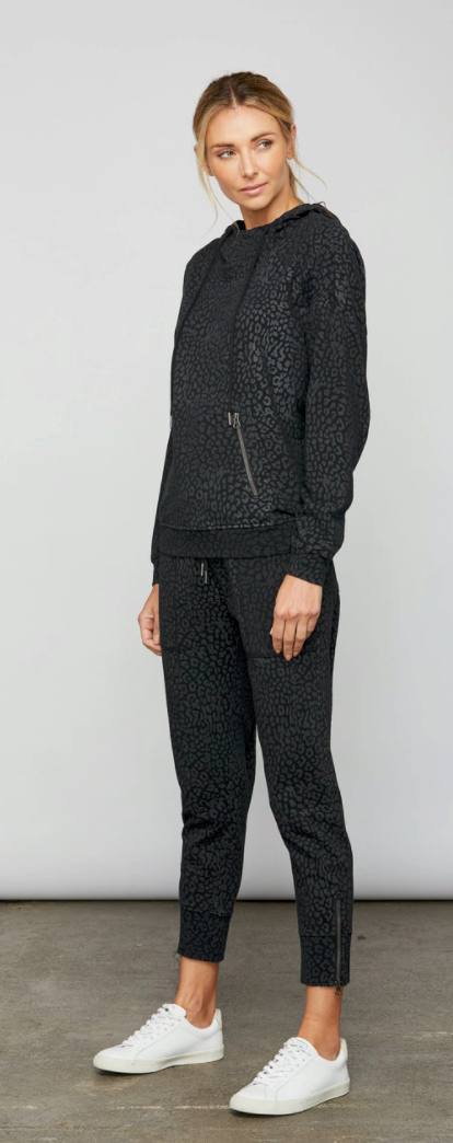 Sundays - Palmer Jogger Pant - Black Cheetah