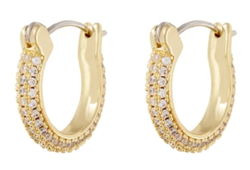 Luv Aj - Antoinette Huggie Earrings