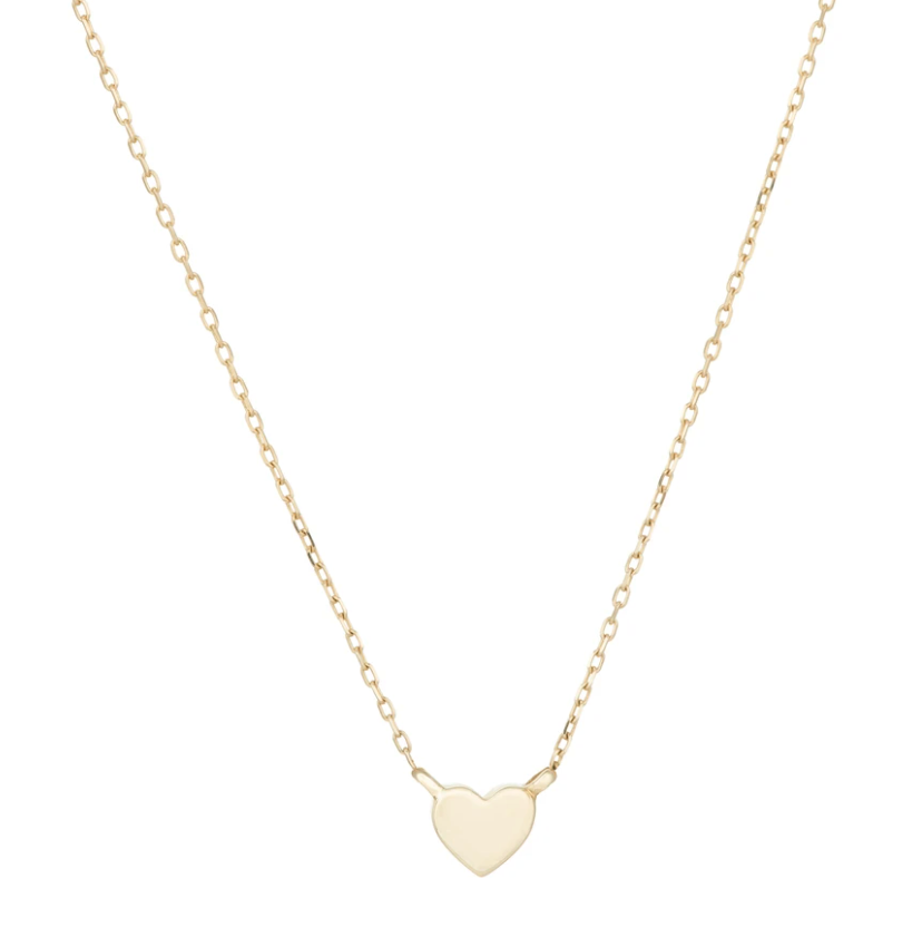 Adina Reyter - Super Tiny Puffy Heart Necklace - Yellow Gold