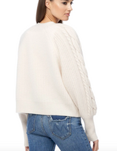 Load image into Gallery viewer, 360 Cashmere - Mika Cardigan Sweater - Chalk