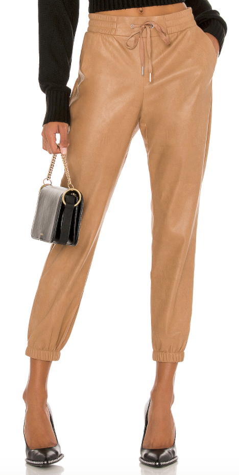 n:Philanthropy - Scarlett Vegan Leather Jogger - Camel