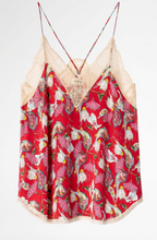 Load image into Gallery viewer, Zadig & Voltaire - Christy Paisley Psyche Camisole - Red