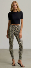 Load image into Gallery viewer, Commando - Faux Leather Animal Legging w Perfect Control - Neon Snake