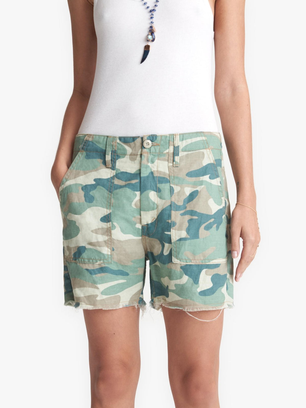 Mother - Shaker Chop Short - Blue Green Camo