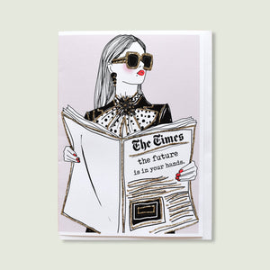 Verrier Handcrafted - Greeting Card - The Future Is In Your Hands