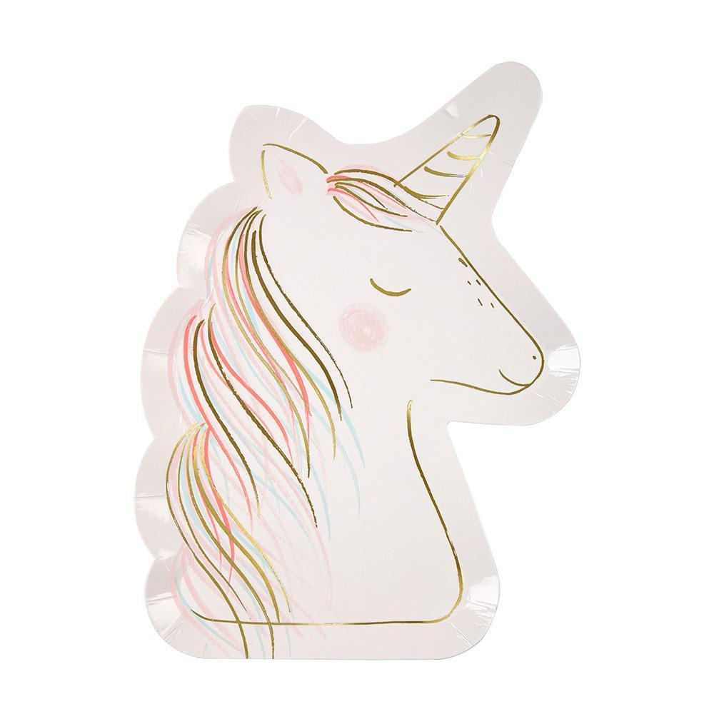 Large Unicorn Plates by Meri Meri