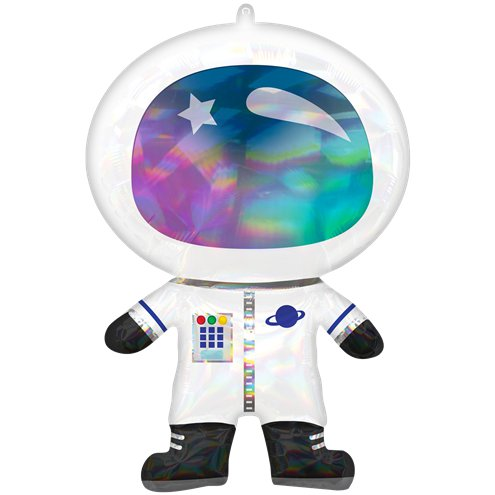 SuperShape Iridescent Astronaut Foil Balloon