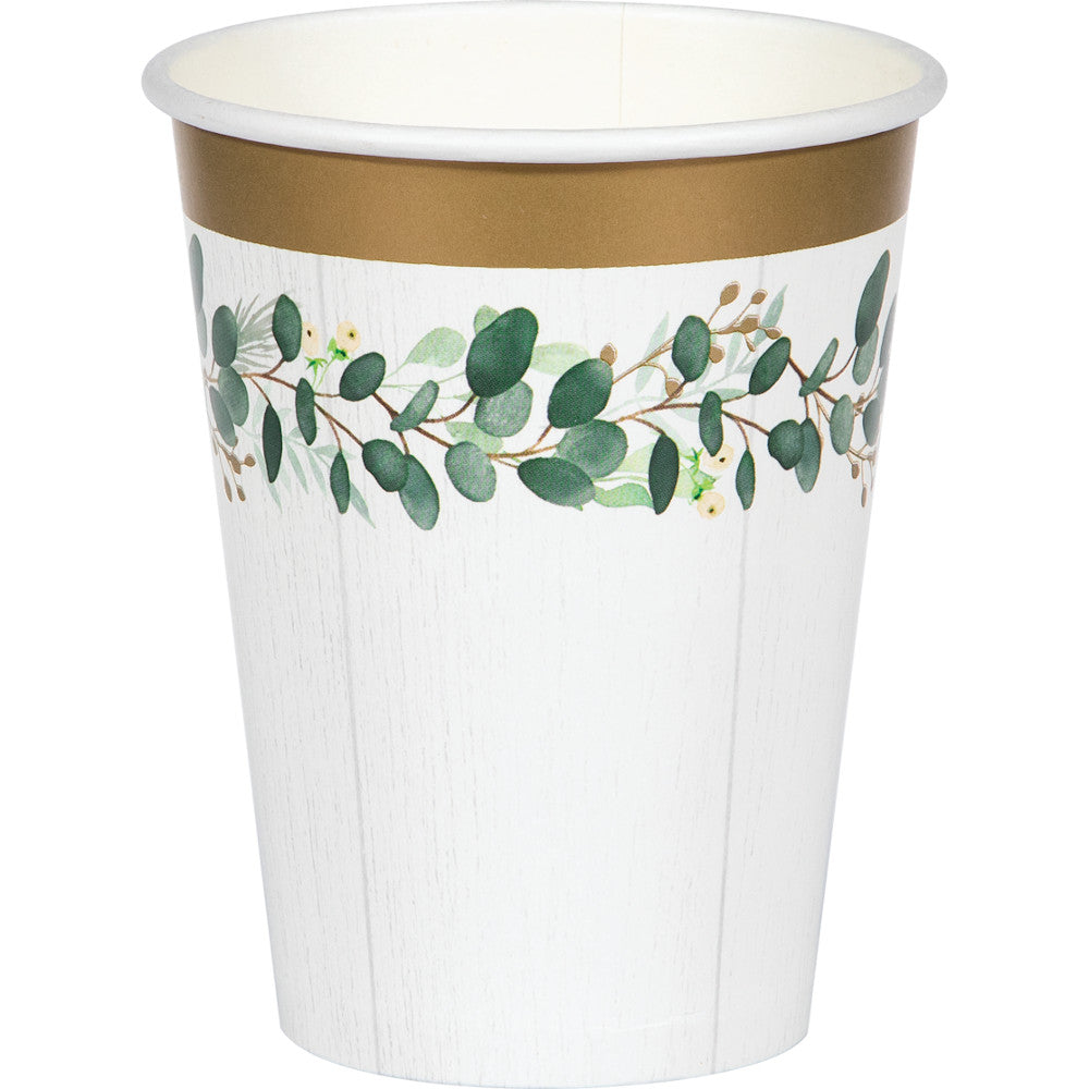 Eucalyptus Greens Party Cups