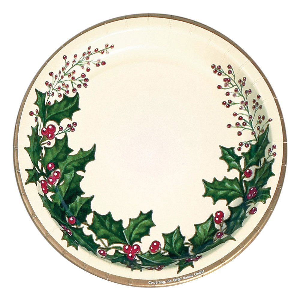 Holly Winter Lunch Plates