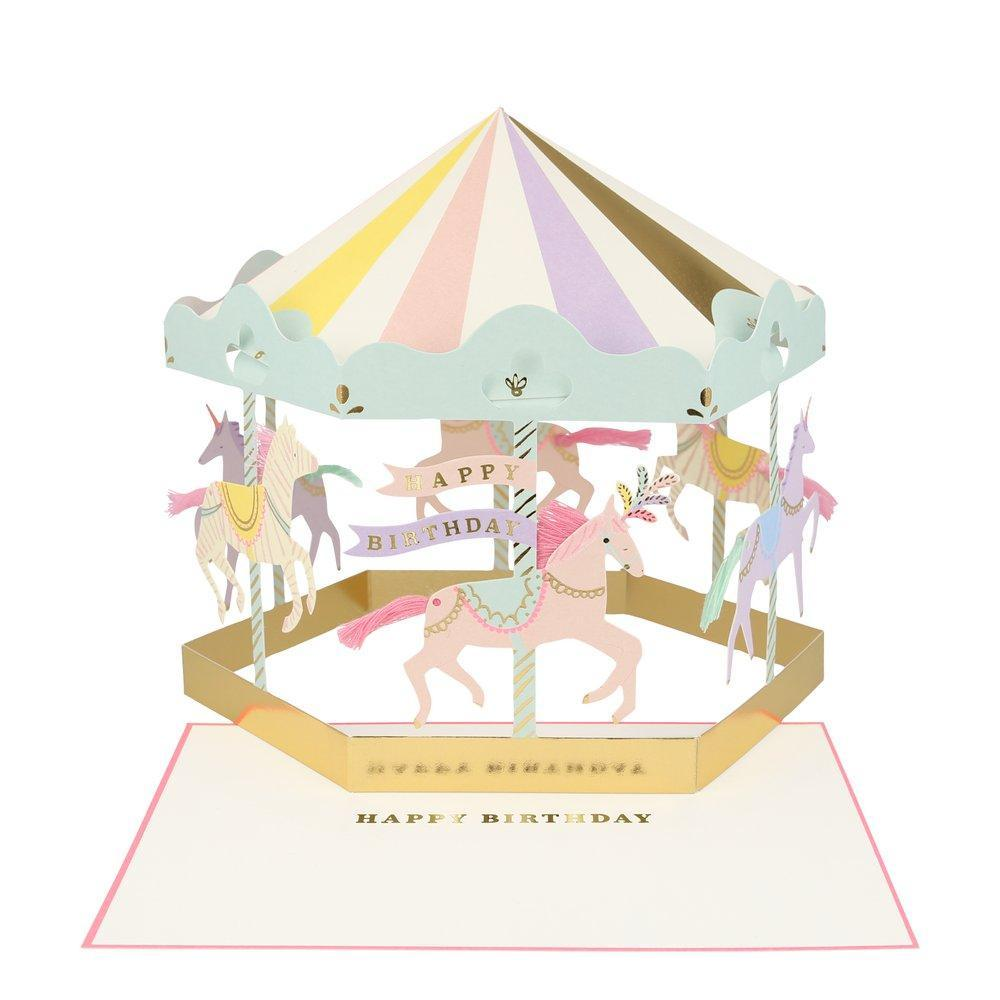 Carousel Stand-up Card by Meri Meri