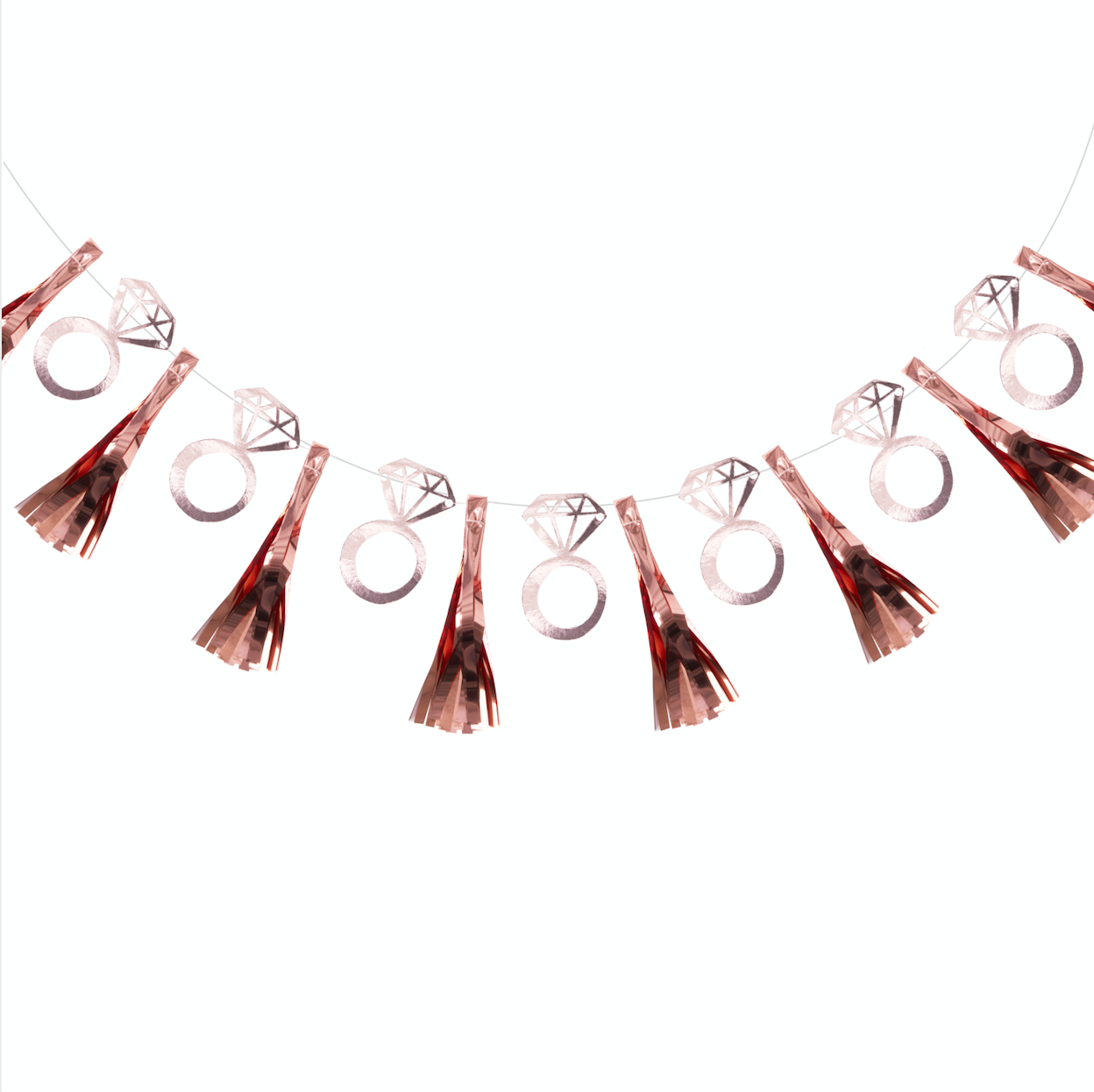 Rose Gold Foiled Ring Tassel Garland